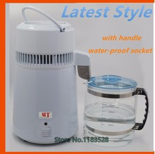 Free shipping household water distiller electric stainless steel water distiller for home, dental clinic and laboratory