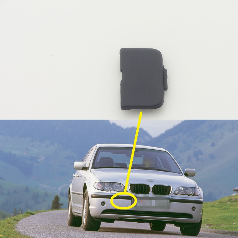 1 PC Front bumper tow hook eye cover cap trailer cover 51117044125 for BMW 3 Series E46 new 2002-2004