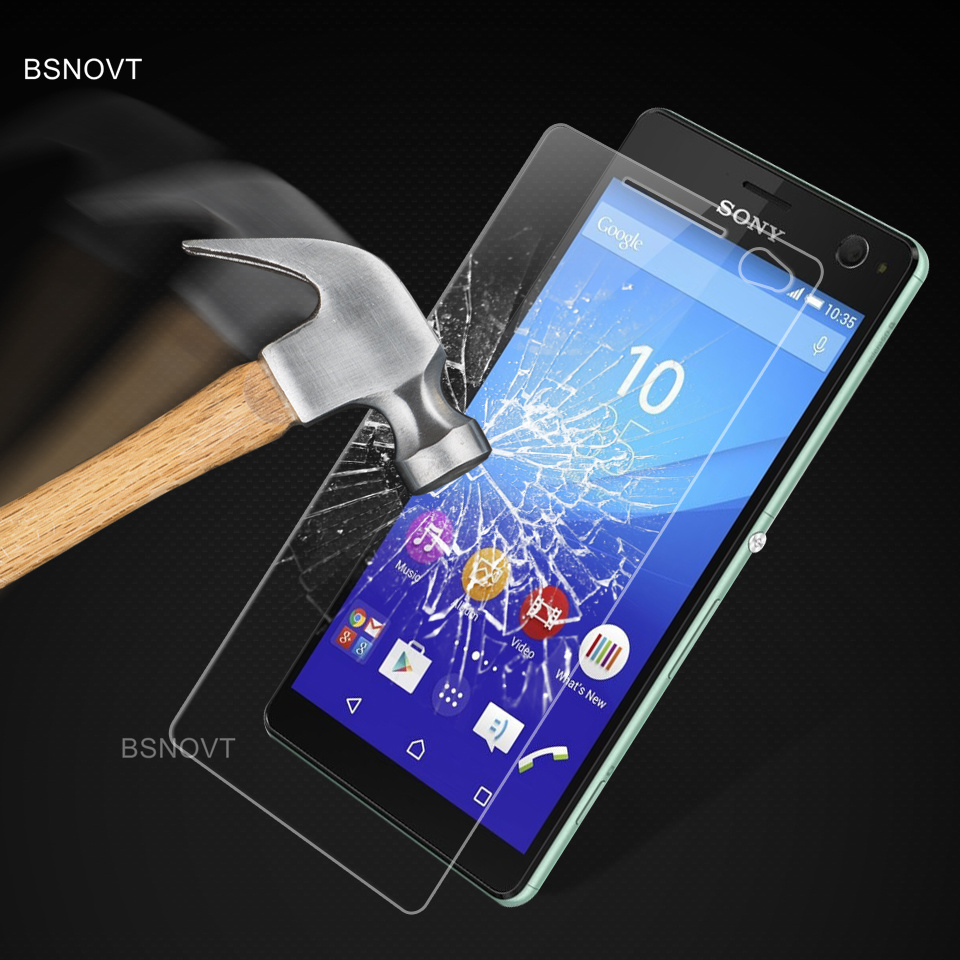 2PCS Glass For Sony Xperia C4 Phone Screen Protector Tempered Glass For Sony Xperia C4 Glass For Sony Xperia C4 Phone Front Film