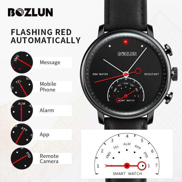 Bozlun вызов напоминание Смарт часы Водонепроницаемый Шагомер Спорт Наручные часы Для мужчин Для женщин Мода Часы удаленного Камера часы H8