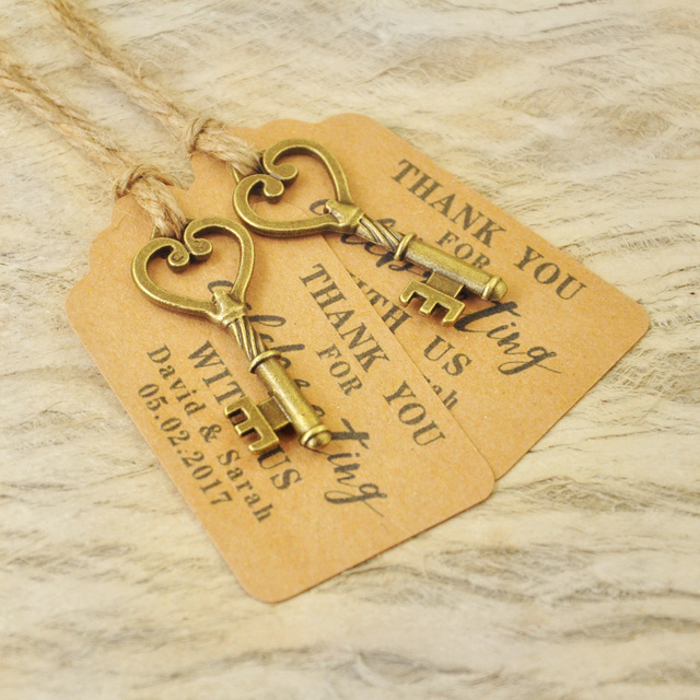 Personalized Favor tags Wedding Tags Antique Key Gift Tags Escort ...