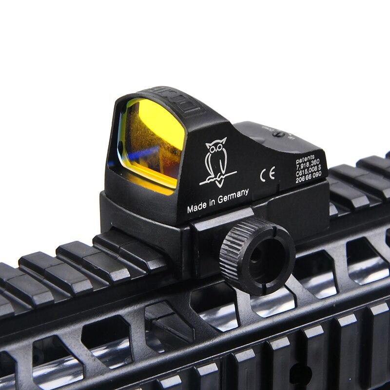 Docter Vue 3 Mini Red Dot Sight Reflex Holographique Vue Auto Luminosité Laser Sight Portée Pour Airsoft Caza