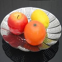 Hot Sale Stainless Steel Folding Type Storage Basket Multifunctional Kitchen Tools Fruits Tray Free Shipping