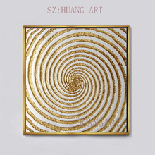Modern Nordic luxury style gilding Handmade abstract Oil Painting On Canvas Wall art For Living Room hotel Home Decor unframed