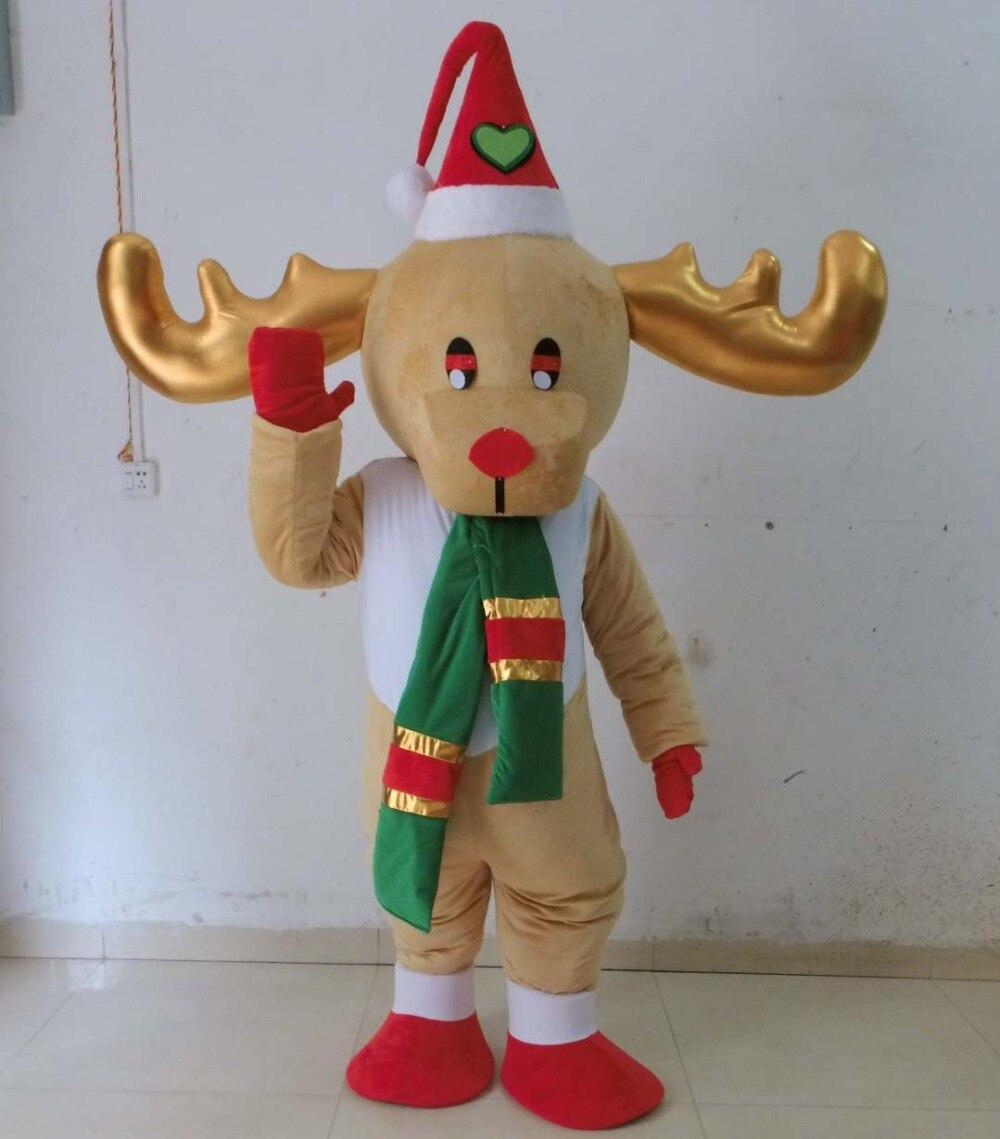 adult christmas reindeer mascot costume