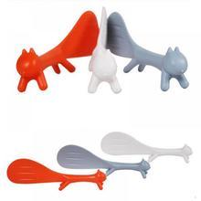 1 шт. специальные ковши, кухонные инструменты, корейские милые кухонные принадлежности, ковш в форме белки, антипригарное рисовое весло, ложка для еды