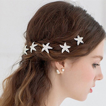 6 Pcs Starfish U Shape Braid Headwear Wedding Party Hairpin Hair Accessories New Arrival