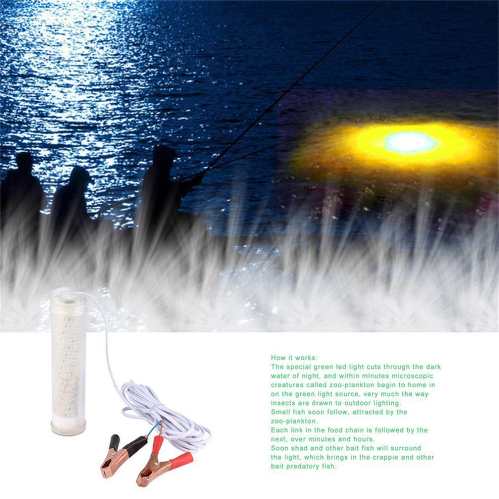 104pcs led underwater submersible night fishing light for Crappie lights for night fishing
