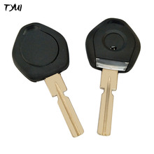 TYUI 10pieces/lot Car Transponder Chip Key Case For BMW Key Fob Replacements With LED Light