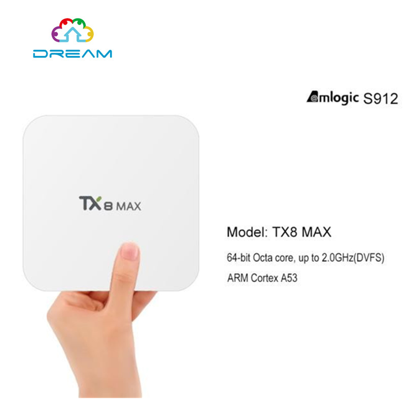 ФОТО TX8 Max Android TV BOX Amlogic S912 Android6.0 3G 16G Bluetooth BT4.1 Amlogic S912 Octa core ARM Cortex-A53 CPU up to 2GHz