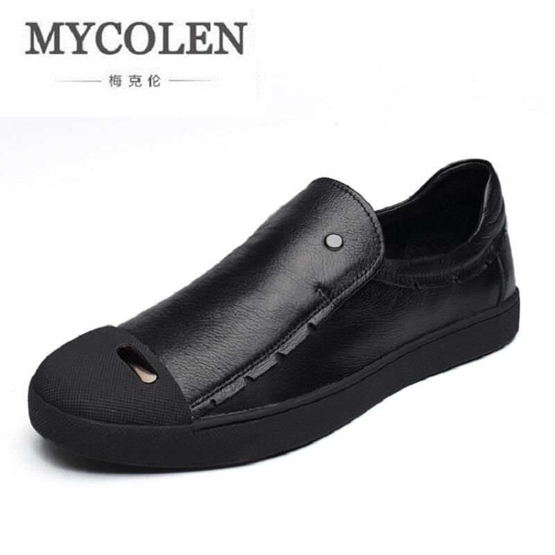 MYCOLEN Luxury Fashion Men Shoes Trend Male Casual Shoes Men's Low Board Outwear Flats Breathable Driving Shoes zapatos hombre new fashion men luxury brand casual shoes men non slip breathable genuine leather casual shoes ankle boots zapatos hombre 3s88