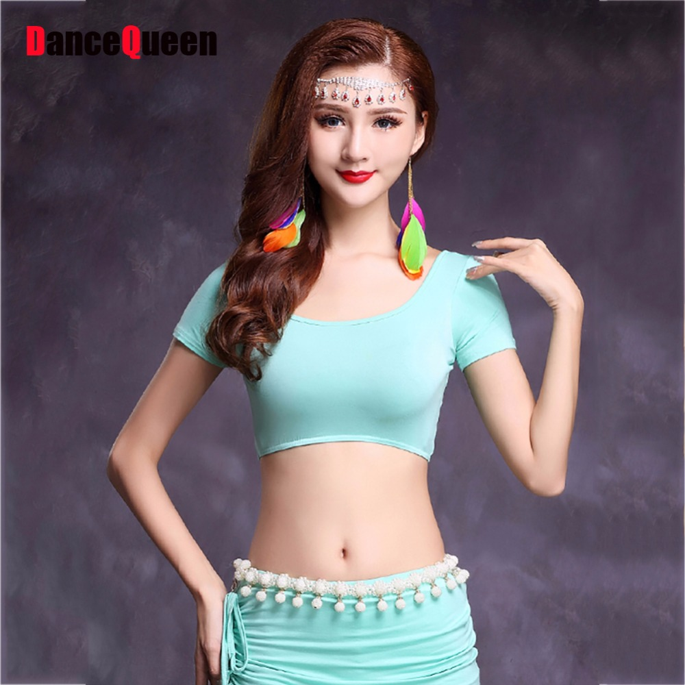 New Arrival Belly Tribal Dancing Shirts 9 Color Modal Durable Tops Wears Bollywood Sexy Women Danza Ventre Frocks Clothes 11041