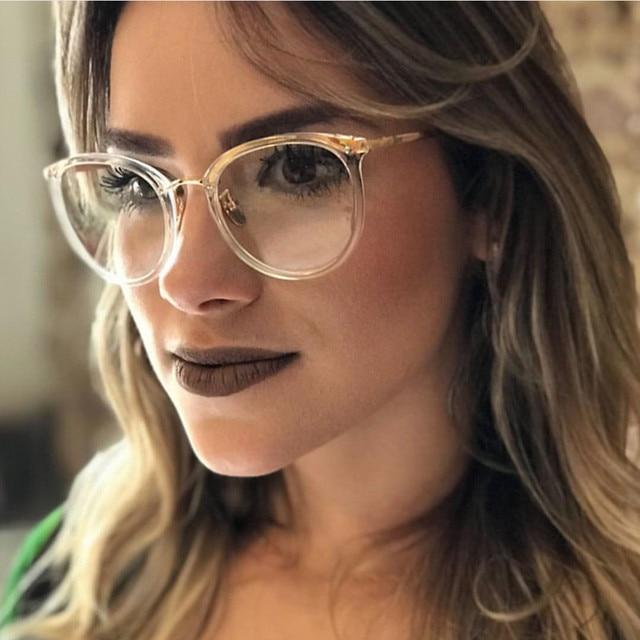 7b0eef2ca9d0 New fashion gold glasses frames men women eyewear vintage transparente eyeglasses  brand designer Plain Mirror Armacao De Oculos