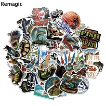 65pcs Fishing outdoor kids pasters fans decals scrapbooking diy stickers decorations phone waterproof cartoon accessories gifts