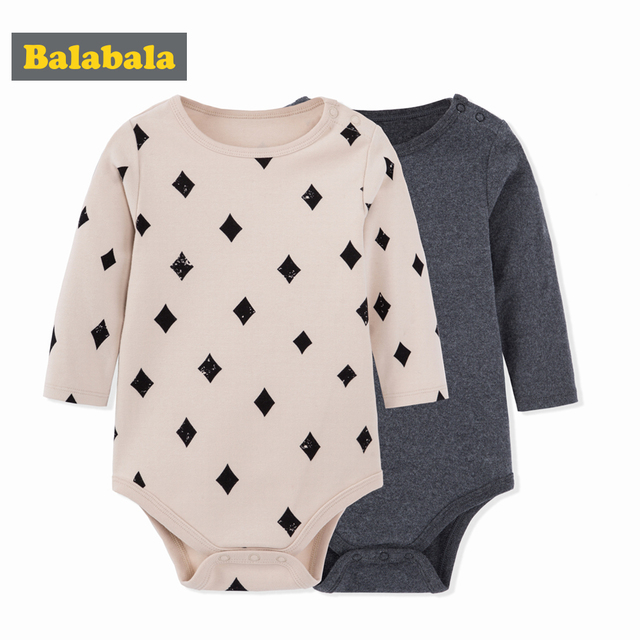 balabala Baby Clothes Boys Girls Comfortable Onesies For Babies Clothing Autumn Winter Newborns Romper 2 Pieces Infant Overalls