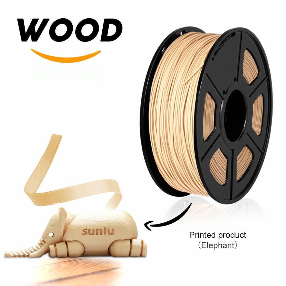 1.75mm Wood Fiber 3D Printer Filament Environmental Printing 3D Filament 1kg With Spool Close Real Wood Effect Crafts Consumable