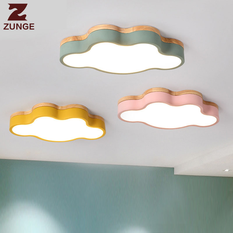 LED ceiling lamp bedroom led simple modern light N03 creative personality cartoon girls boys children's room cloud wood lamps new cute hello kitty led ceiling light lamp for simple creative cartoon boys girls bedroom ceiling lights children reading room