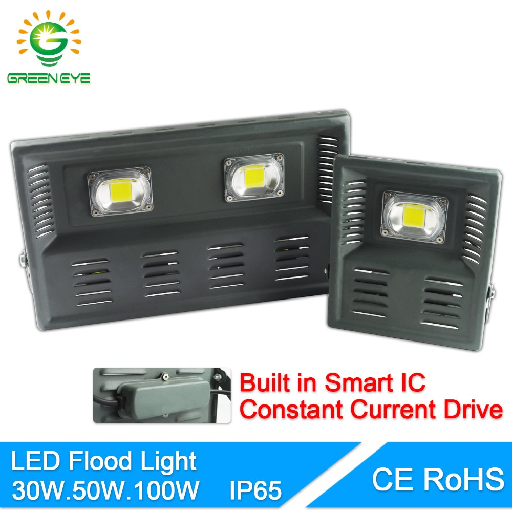 GreenEye LED Flood Light 30W 50W 100W Floodlight IP65 LED street Lamp 220V waterproof driver LED Outdoor Spotlight Garden Lamp электросамокат novatrack escoo or8
