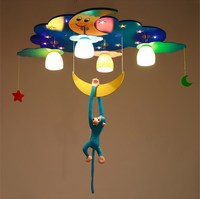 LED Ceiling Light Kids Room Boys Girls Bedroom Cartoon Eye Star Moon Dolphin Lighting ET7