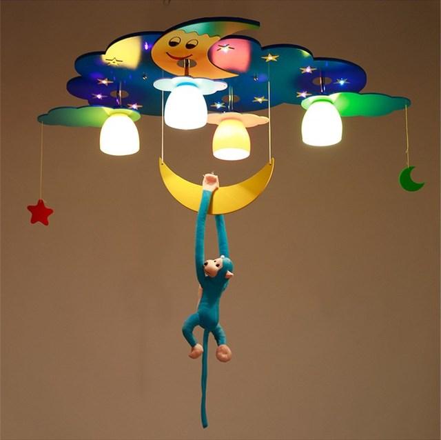 Led Deckenleuchte Kinderzimmer Jungen Mädchen Schlafzimmer Cartoon Auge  Sterne Mond Delphin Beleuchtung