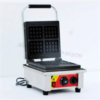 Electric Rectangle Waffle Baker Maker Square Waffle Machine 4 pcs In One Tray 220V 110V Non-Stick Cooking Surface