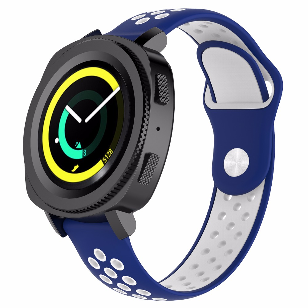 18mm 20mm 22mm Gear S3 Silicone Watch Band Bracelet Replacement Watch Wrist Strap for Samsung Gear S3 Classic Frontier Huawei in Watchbands from Watches