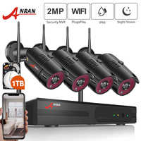 ANRAN 1080P Wireless Security Camera System 4CH NVR Kit Night Vision Outdoor Wifi Surveillance Camera Wireless cctv Video Kit