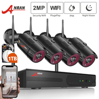 ANRAN 1080P Wireless CCTV Camera System 4CH NVR Home WiFi Security Camera Kits Outdoor Video Surveillance System