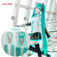 LG High Quality VOCALOID Cosplay Wig Hatsune Miku Costume Play Wigs Halloween Party Anime Game Hair