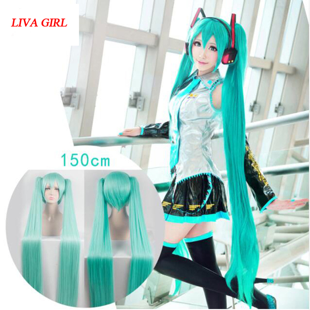 LIVA GIRL High Quality VOCALOID Cosplay Wig Hatsune Miku Costume Play Wigs Halloween  party Anime Game