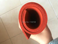 Silicone Foam Sheet 1000x1000x5mm Closed Cell Silicon Rubber Sheet For Heat Transfer Red Color