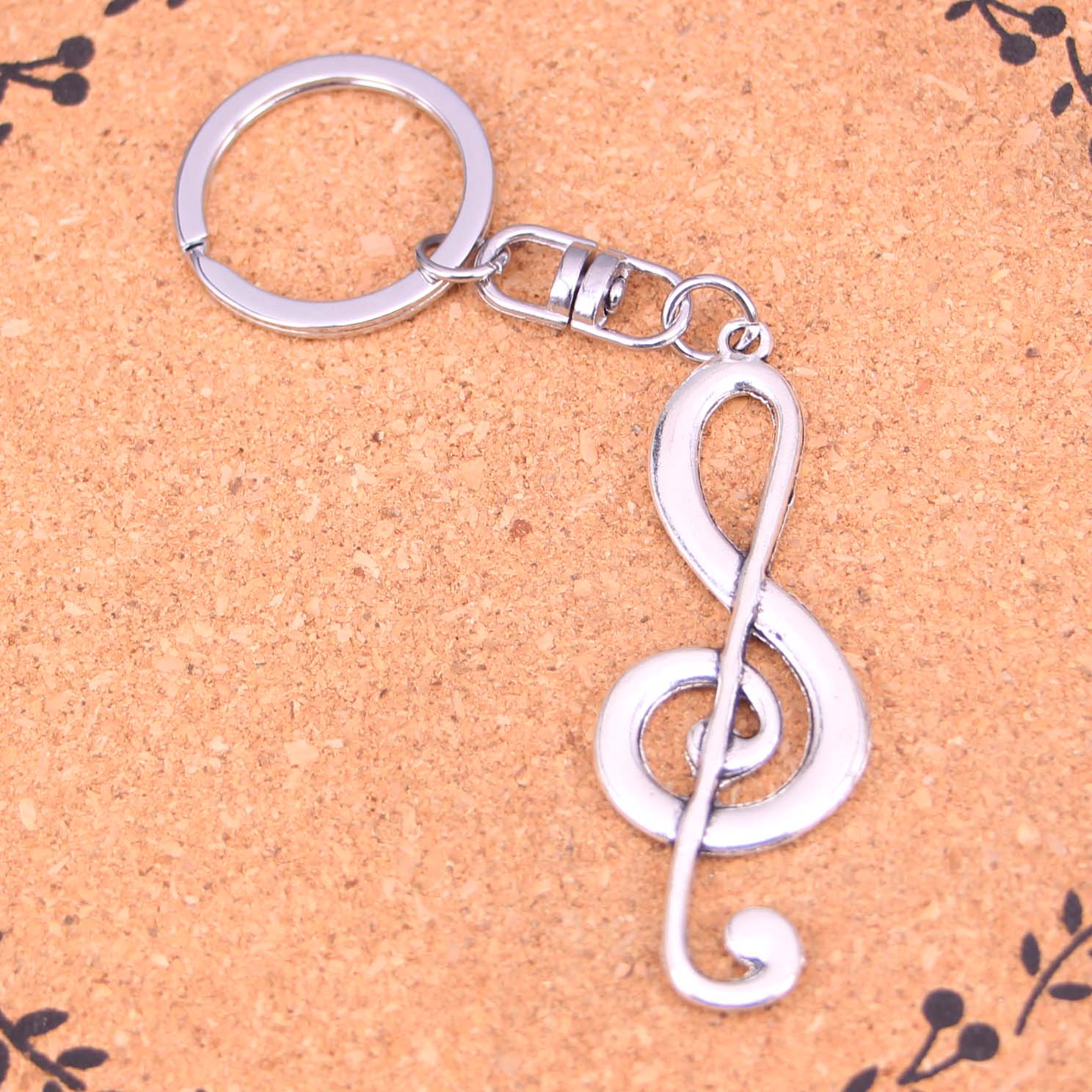 Jewelry & Accessories Key Chains Honesty 20pcs Musical Note Keychain Novelty Gadget Trinket Souvenir Christmas Gift Keychain Drop Shipping