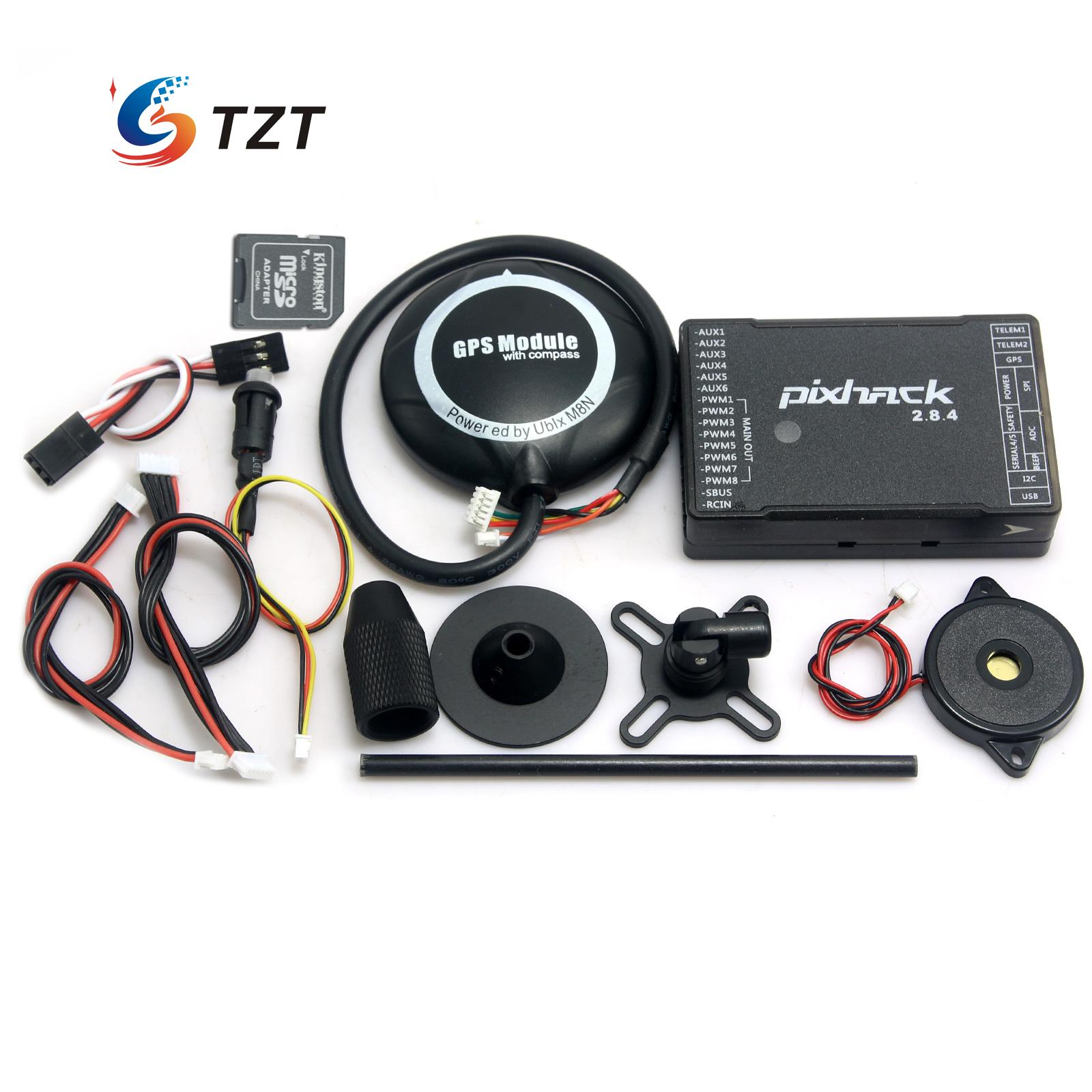 FPV Pixhack 2.8.4 Flight Controller 32Bit Open Source Based on Pixhawk+Ublox M8N GPS with Compass for Drone Quadcopter foldable bracket holder ublox m8n gps compatible with naza lite v1 v2 flight controller