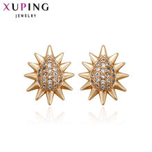 Xuping Fashion Earring 2018 New Fashion Special Gold Color Plated Stud Earrings Jewelry Women Gift S27.2/S33.4-27985(China)
