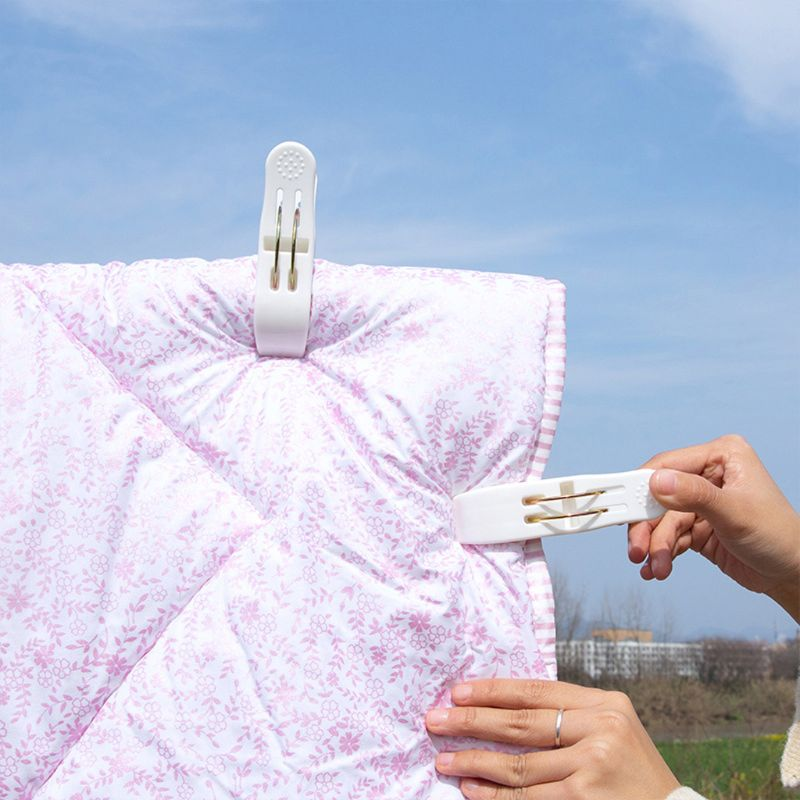 Image 2 - 2Pcs Large Powerful Windproof Clothes Hanging Peg Quilt Sheet Clothespin Sunbed Towel Clip Hanger Clamps-in Clothes Pegs from Home & Garden