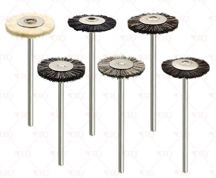 144 pièces brun blanc abrasif brosses Dremel accessoires polissage roue ensemble T forme 22*2.35mm polissage roues Kit pour rotatif