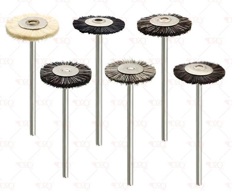 144pcs Brown White Abrasive Brushes Dremel Accessories Polishing Wheel Set  T Shape 22*2.35mm Polishing Wheels Kit For Rotary