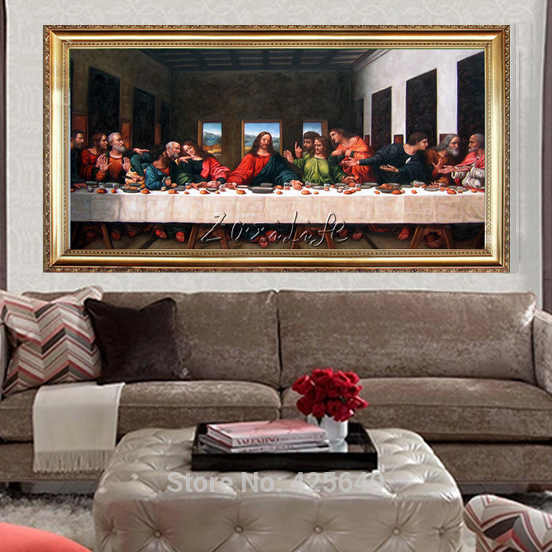 Home Interior Jesus: Home Decor Jesus Christ The Last Supper II Art Decor