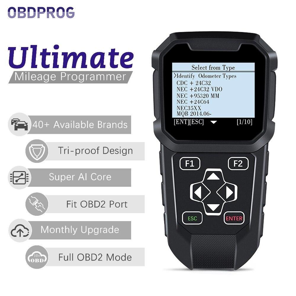 OBDPROG MT401 Odometer Correction Mileage Correction Diagnostic Tool OBD2 Mileage Reset for W212 W204 300C C4 500 Ducato Punto visa