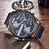 Oulm Men Top Brand Luxury Japan Movt Quartz Watch 2 Time Zone Casual Watches 5 5cm