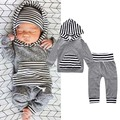 2017 Baby clothes boys girls hooded hoody sweatshirts+pants sets fashion Infantil cotton roupas de bebe overall clothes 4M-24M
