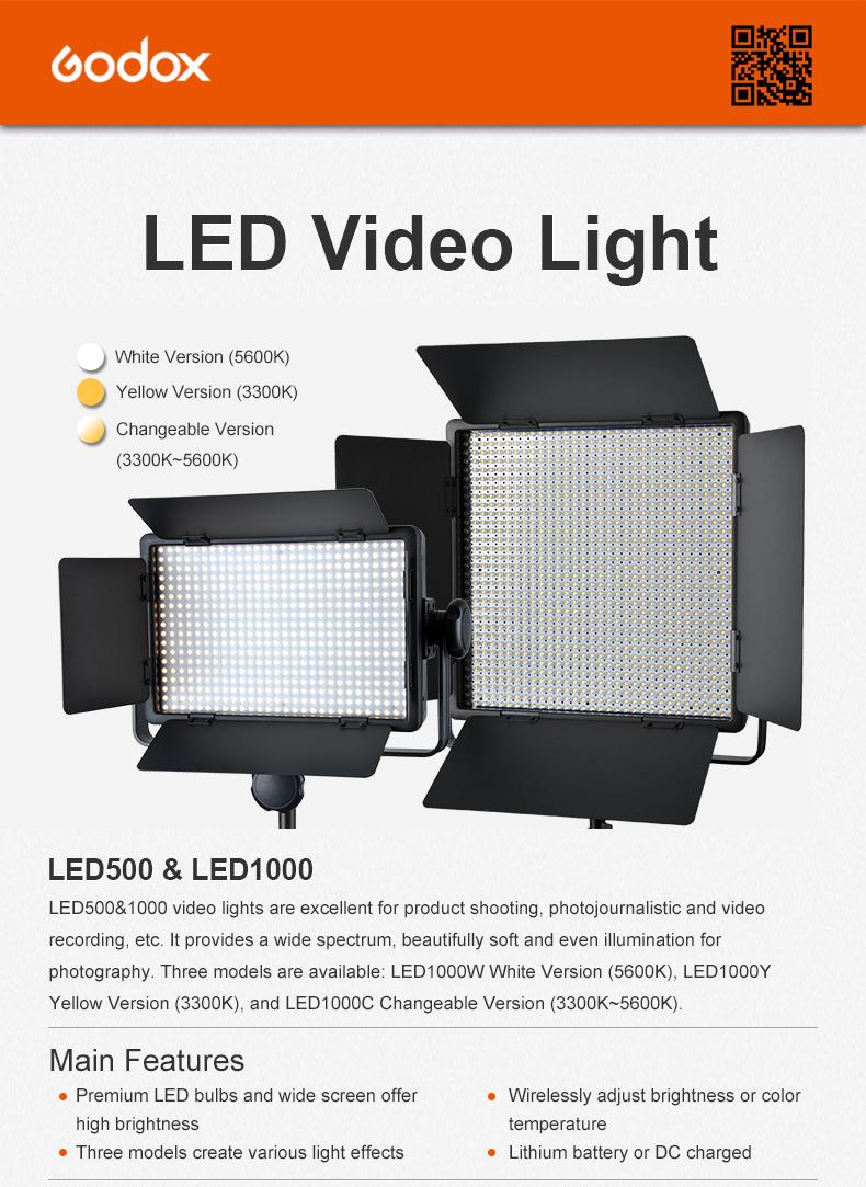 Godox LED500 LED Video Light (2)
