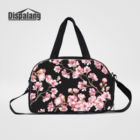 Dispalang Women Travel Duffle Bags Carry On Luggage Fashion Cherry Blossoms Flower Design Canvas Weekend Bags