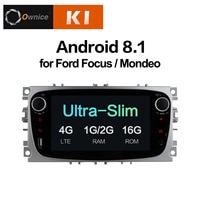 Ownice K1 Android 8,1 dvd плеер автомобиля gps Navi для Ford Focus Mondeo Galaxy Kuga с 2G RAM 16G ROM стерео Штатная 4G LTE