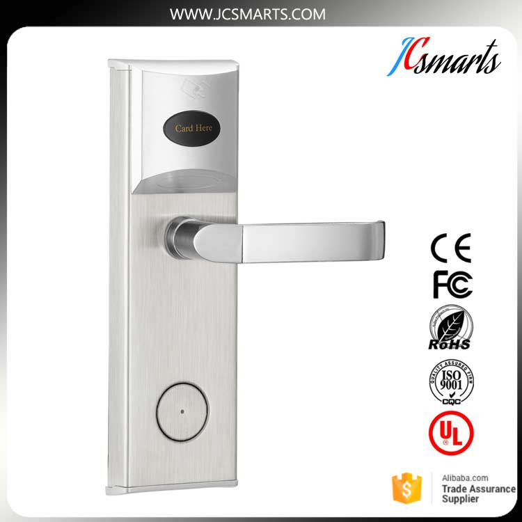 Office/Hotel room rfid card electronic door lock with software management electronic rfid card door lock with key electric lock for home hotel apartment office latch with deadbolt lk520sg