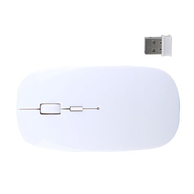 2019 Promotion Computer Mouse Mice for Laptop Notebook! Ultra Thin 2.4G Optical Wireless Mouse USB Receiver Air Mouse Cordless