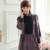 Retro Royal Estilo de Terciopelo Princesa Camisón de Manga Larga Noble Púrpura Del Tobillo-Longitud de Encaje Invierno de Las Mujeres ropa de Dormir Camisón