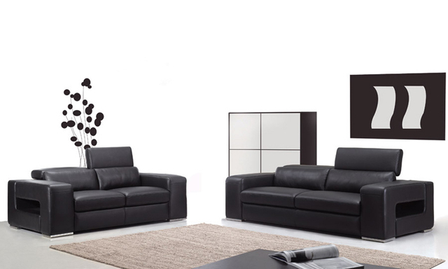 Free Shipping Clic 1 2 3 High Back Leather Sofa Set Top Grain Italy Design