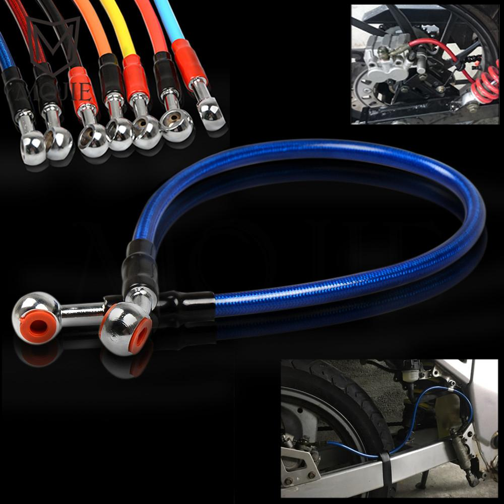 500mm 50cm Lefossi Motorcycle Reinforced Hydraulic Brake Oil Hose Line Pipe Fitting Stainless Steel Braided Cable For Motorcycle Pit Dirt Bike Enduro Motocross Street Bikes Sport Bikes