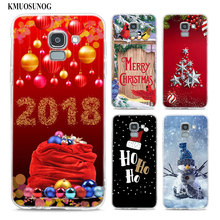 Transparent Soft Silicone Phone Case Happy Ho Christmas For Samsung Galaxy j8 j7 j6 j5 j4 j3 Plus 2018 2017 Prime